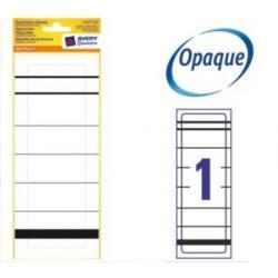 Pojedyncze etykiety na segregatory, 192 x 61 mm, białe Avery Zweckform