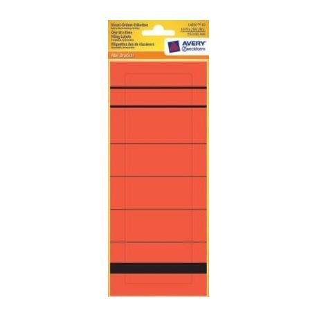Pojedyncze etykiety na segregatory, 192 x 61 mm, czerwone Avery Zweckform