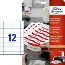 Identyfikatory do drukarek 40 x 75 mm, z mikroperforacją  Avery Zweckform