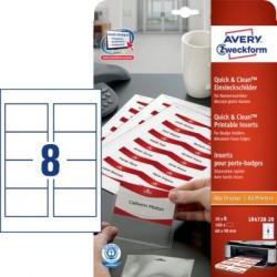 Identyfikatory do drukarek 60 x 90 mm, Quick&Clean™ Avery Zweckform
