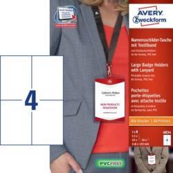 Duże identyfikatory imienne ze smyczą, format A6 Avery Zweckform