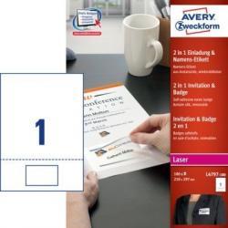 2w1 Identyfikator z Zaproszeniem Avery Zweckform