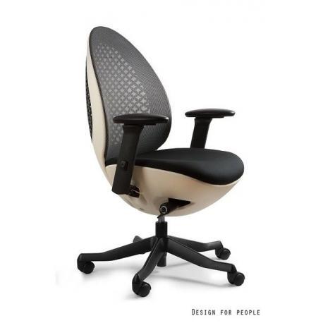 Fotel OVO biało/czarny UNIQUE