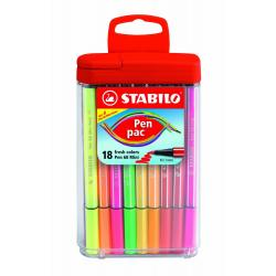 Flamastry 18 szt. Pen Pack mini Stabilo