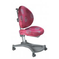Ergonomiczne krzesło rosnące z dzieckiem różowe kółka MyPony Mayer