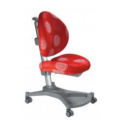 Ergonomiczne krzesło rosnące z dzieckiem czerwone kółka MyPony Mayer