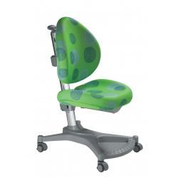 Ergonomiczne krzesło rosnące z dzieckiem zielone kółka MyPony Mayer